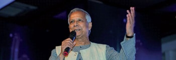 Accueil de Muhammad Yunus, Prix Nobel de la Paix